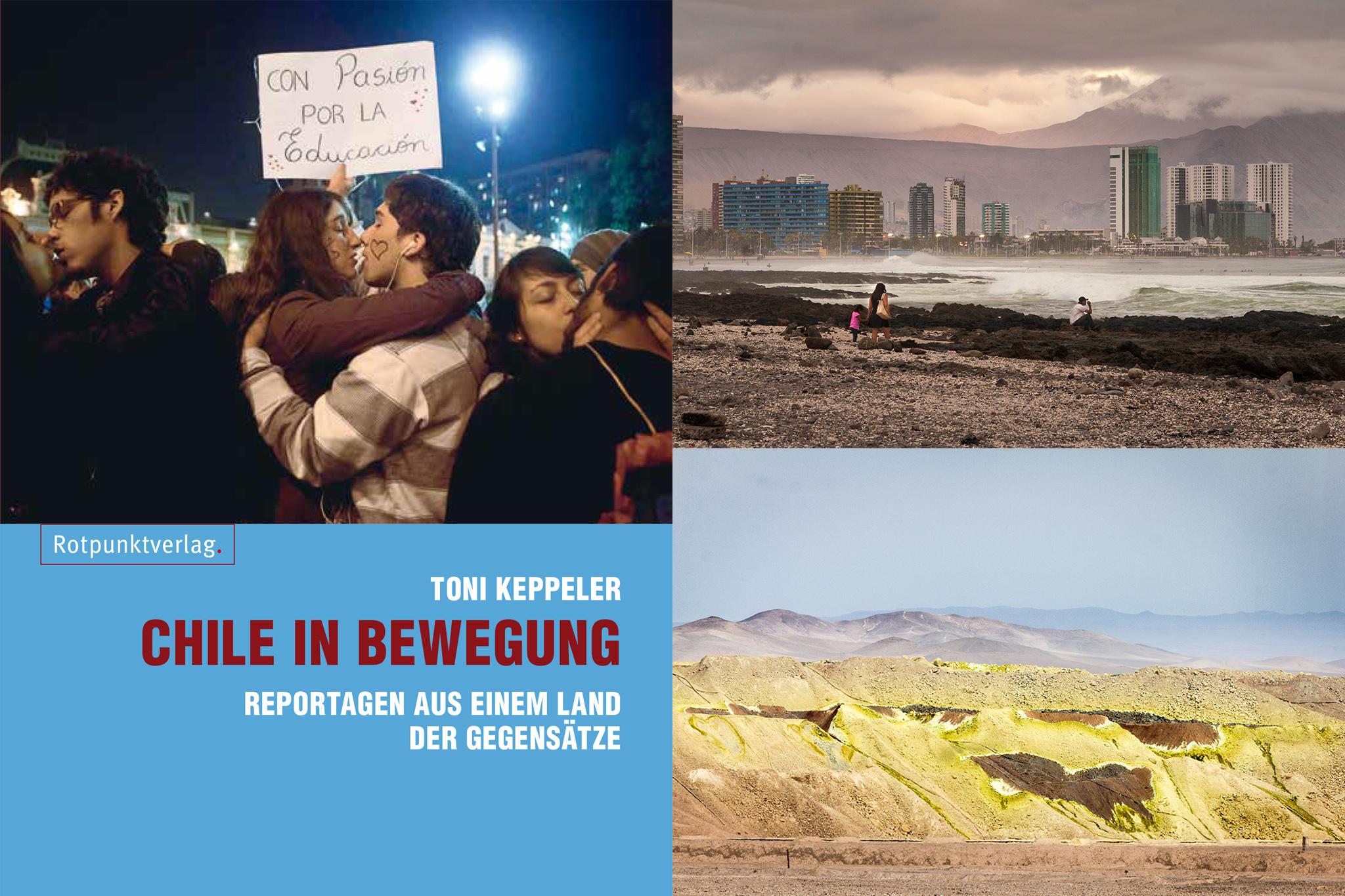 """Cover """"Chile in Bewegung"""" und Bildteil"""