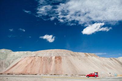 Abraumhalde der Kupfermine Chuquicamata