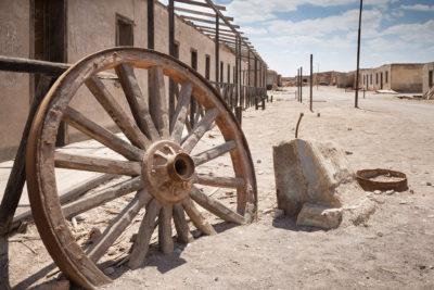 Geisterstadt der ehemaligen Salpetermine Chacabuco