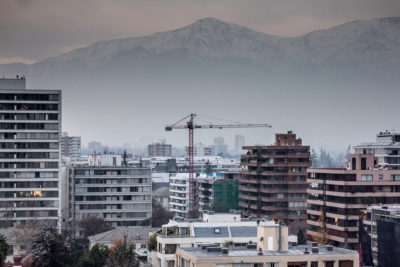 Bauarbeiten in Santiago de Chile
