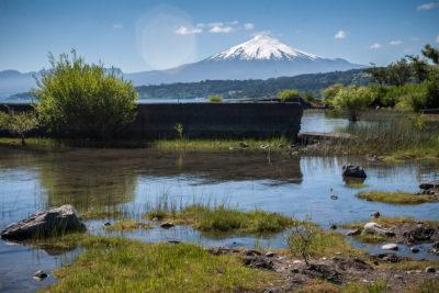 Vulkan Villarica am gleichnamigen See