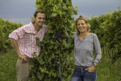 Angela und Werner Michlits, Winzerehepaar aus Österreich (www.meinklang.at)