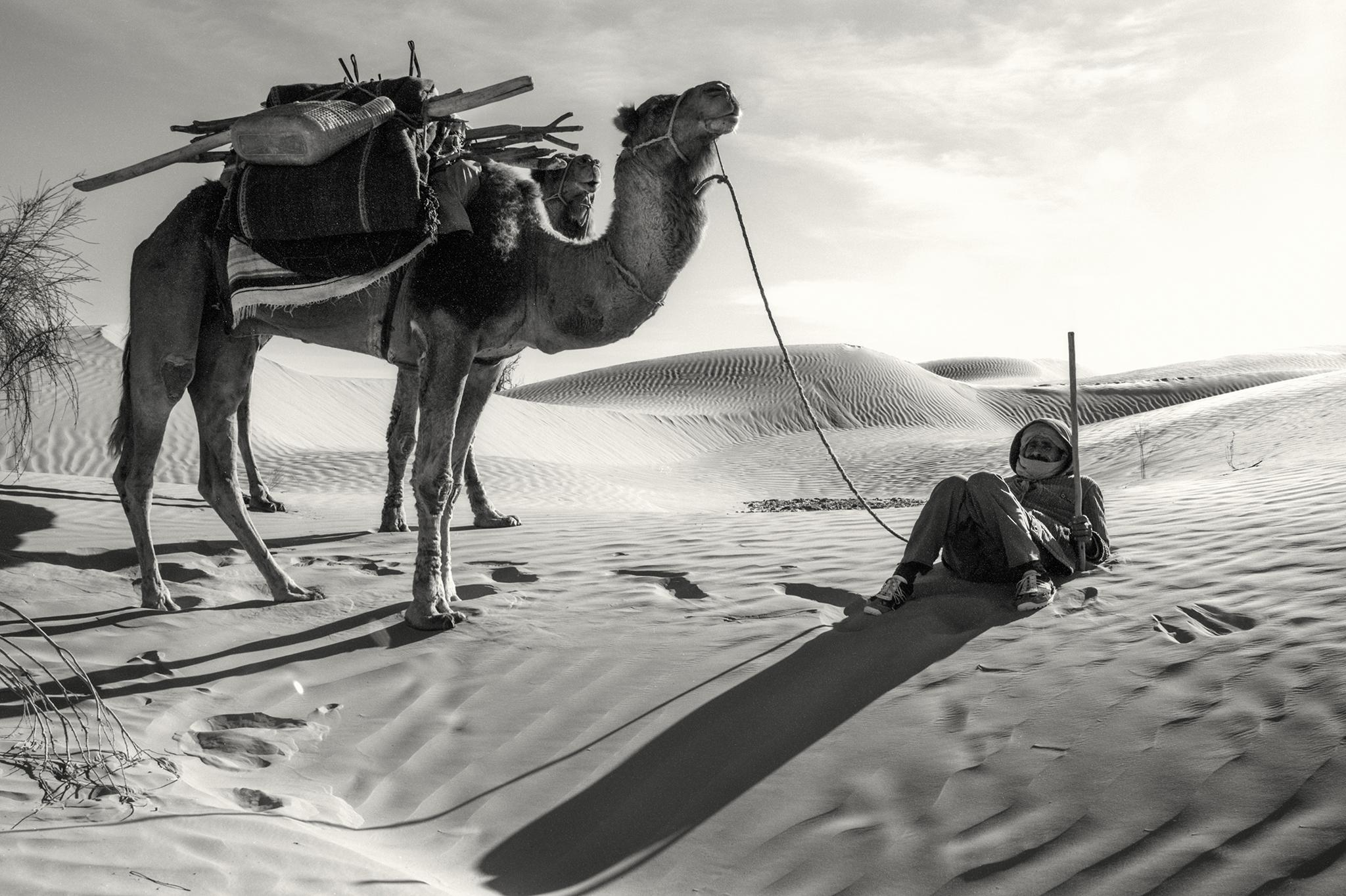 Mohammed bereit zum Aufbruch. Sahara, 2003