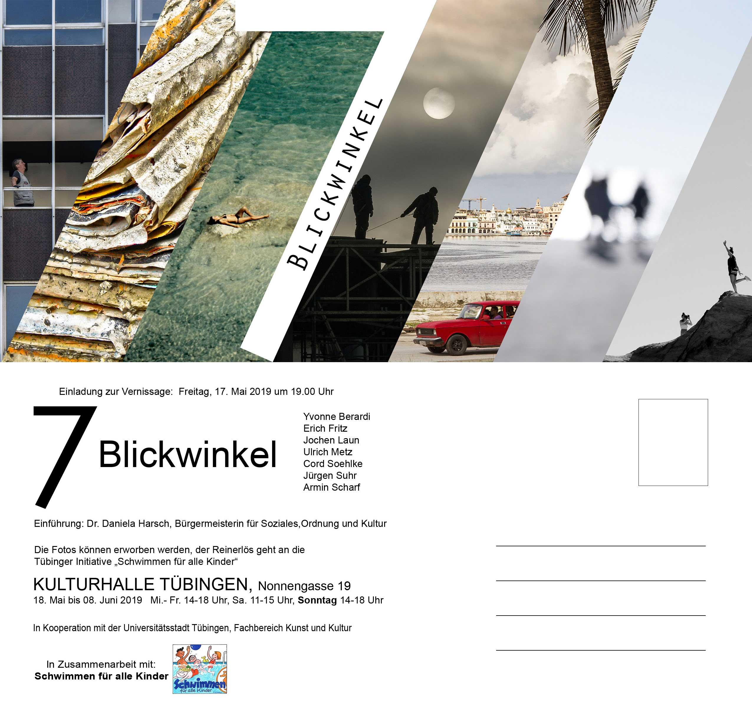 """Einladung zur Vernissage der Ausstellung """"7 Blickwinkel"""""""